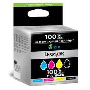 lexmark 14n1921e - cartouche d'encre n° 100xl (lrp) kit de 4 couleurs (n/c/m/y)
