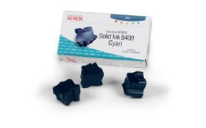 xerox 108r605 - cartouche d'encre cyan phaser 8400 - boite de 3