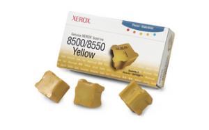 xerox 108r671 - cartouche d'encre jaune phaser 8500 / phaser 8550 - boite de 3