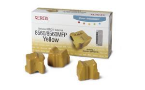 xerox 108r725 - cartouche d'encre jaune phaser 8560 - boite de 3