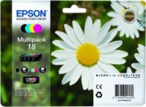 epson t1806 - cartouche encre n° 18 - paquerette - pack de 4 couleurs ncmj