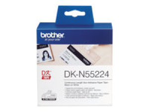 brother - dkn55224 ruban noir/blanc 54 mm pour ql1050/1060/500/550/560/570/580