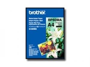 brother bp60ma - papier mat a4 (210x297mm) 145g /m2 25 feuilles