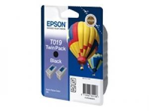 epson t019 (x2) - cartouche encre noire - stylus color 880 - kit de 2