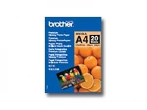 brother bp 61gla - papier photo brillant a4 (210x297mm) 190g /m2 20 feuilles