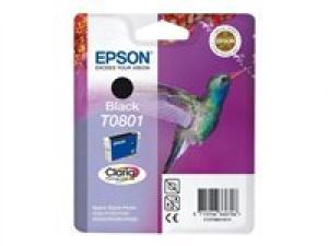 epson t0801 - cartouche encre noire - série r rx px - colibri