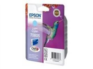epson t0805 - cartouche encre cyan-clair - série r rx px - colibri