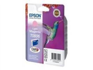 epson t0806 - cartouche encre magenta-clair - série r rx px - colibri