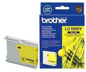 brother lc1000 y - cartouche jaune dcp-130c /330c /540cn /750cw, mfc-240c /440c