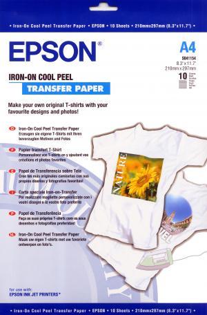 epson s041154 - papier transfert t-shirt a4 - 10 feuilles
