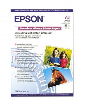 epson s041315  - papier photo premium glacé a3 255g/m2 - 20 feuilles