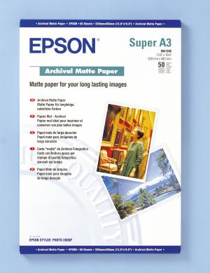 epson s041340 - papier mat archival a3+ 192g/m2 - 50 feuilles