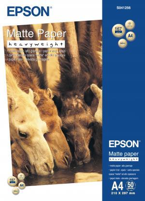epson  s041256 - papier mat épais a4 167g/m2 - 50 feuilles