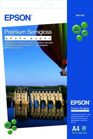 epson s041332 - papier photo prémium semi-glacé a4 251g/m2 - 20 feuilles