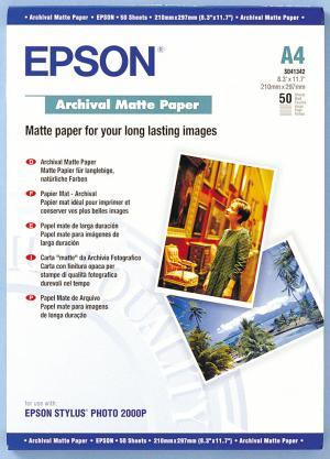 epson s041342 - papier mat archival a4 192g/m2 - 50 feuilles