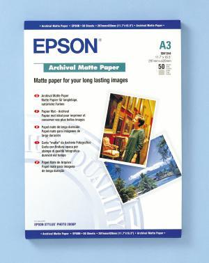 epson s041344 - papier mat archival a3 192g/m2 - 50 feuilles