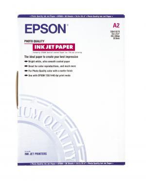 epson s041079 - papier couché qualité photo a2 102g/m2 - 30 feuilles
