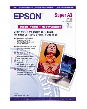 epson s041264 - papier mat épais a3+ 167g/m2 -50 feuilles