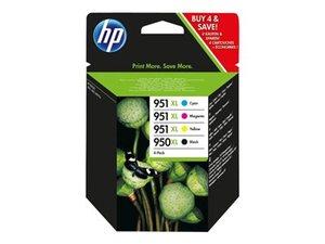 hp c2p43a - cartouche d'encre noire n° 950xl + couleurs n° 951xl - kcmy