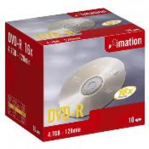 imation 21976 - dvd-r 4,7gb 16x - pack de 10