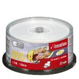imation 22373 - dvd-r 4,7gb 16x - spindle de 30 - imprimable jet d'encre