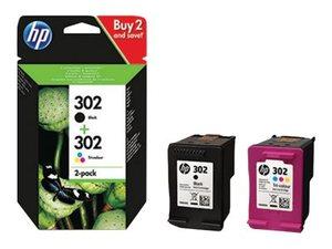 hp xd437a - cartouche d'encre noire + couleur n° 302 pour officjet 3830