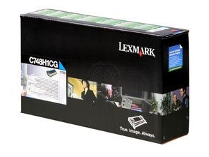lexmark c748h1cg - toner cyan c748 - lrp - 10.000 pages