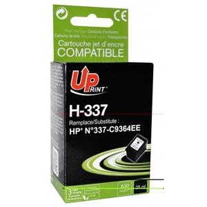 uprint - cartouche noire n° 337 compatible hp c9364 - 25ml