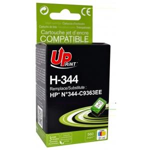 uprint - cartouche 3 couleurs n° 344 compatible hp c9363e - 21 ml