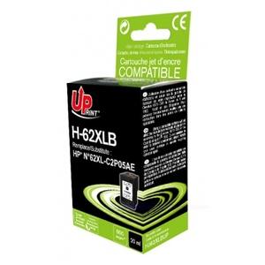 uprint - cartouche noire n° 62xl compatible hp c2p05ae - 20ml