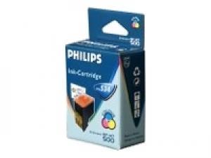philips pfa534 - cartouche d'encre 3 couleurs faxjet 440/450/485/495/500
