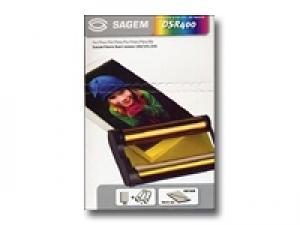 sagem dsr400 - ruban+ 40 papier photo 10x15cm pour easy 155 / 160 / 255 / 260