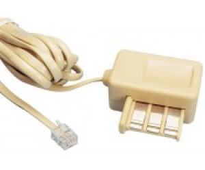 cordon modem - 3 paires - ivoire - 3.0m