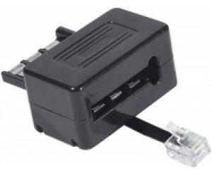 cordon modem - 3 paires - noir - 3.0m