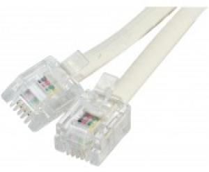 cordon téléphonique rj-11 - 15.0m - ivoire