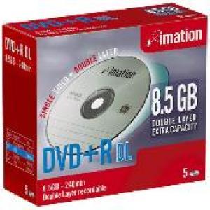 imation 23535 - dvd+r 8,5gb 8x - double couche - pack de 10 - boitier slim