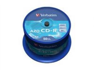 verbatim 43343 - cd-r 80min 700mb 52x - spindle de 50