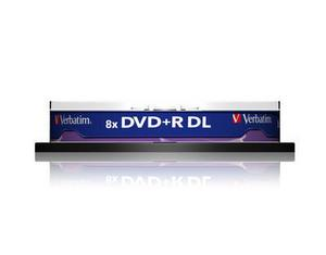 verbatim 43666 - dvd+r 8,5gb 8x double layer (couche) - spindl de10 - imprimable