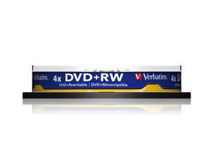 verbatim 43488 - dvd+rw 4,7gb 4x spindle de 10 (sans boitier)