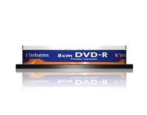 verbatim 43573 - dvd-r 1.4gb 8cm spindle de 10 (sans boitier) imprimable
